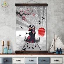 Лучший!  Итачи Учиха Япония Аниме Старинные Плакаты и Отпечатки Прокрутки Живопись на Холсте Настенные