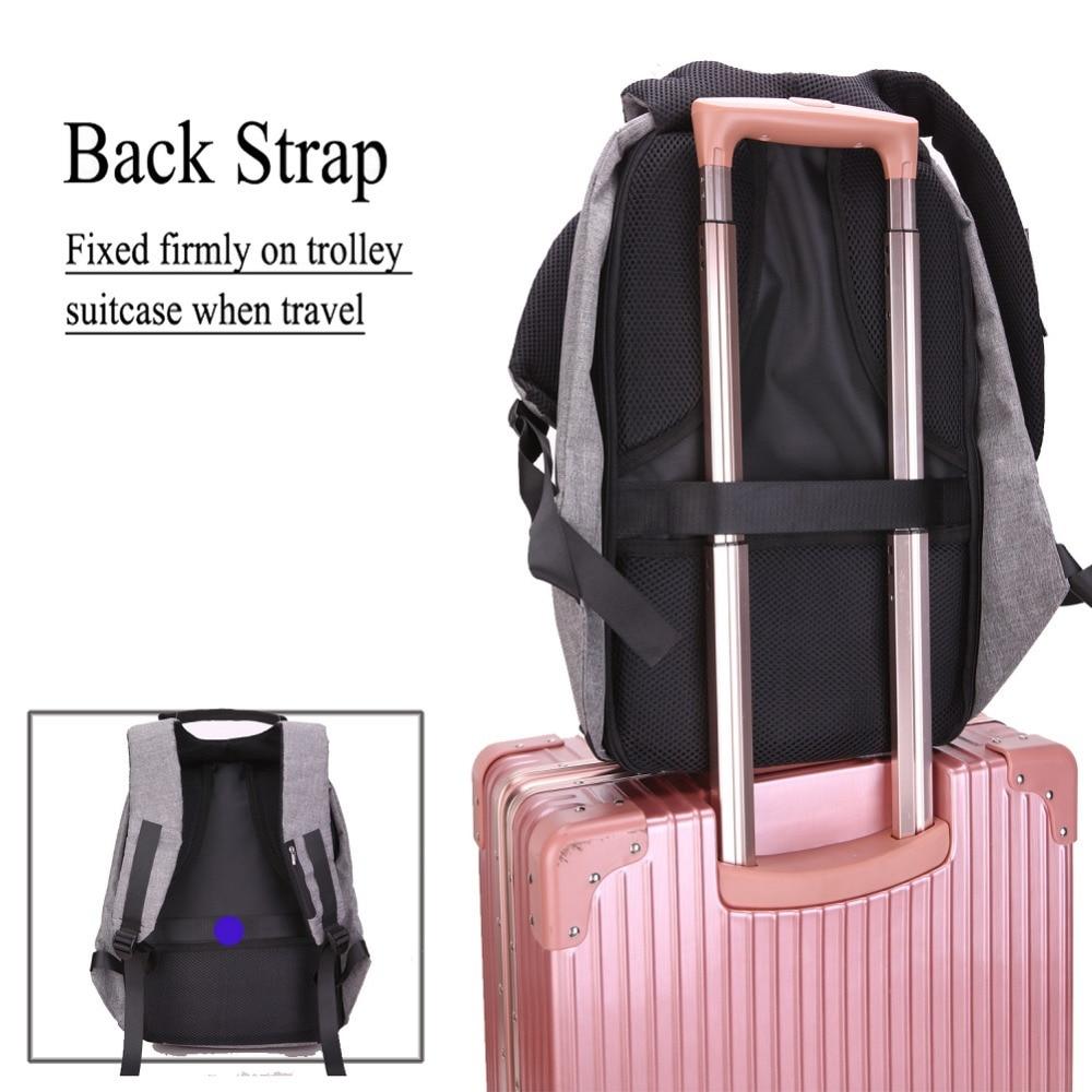 Image 5 - 15.6 Inch Laptop Backpack For MacBook Pro 15 Anti Theft 17.3 inch Laptop Bag Backpack Men/Women Oxford Waterproof Notebook BagLaptop Bags & Cases   -