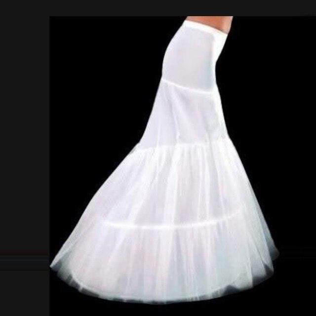 2016 New Hot Sale White 2 Hoops Sereia Saia Crinolina para Vestido De Noiva Sereia Boa Qualidade e Barato