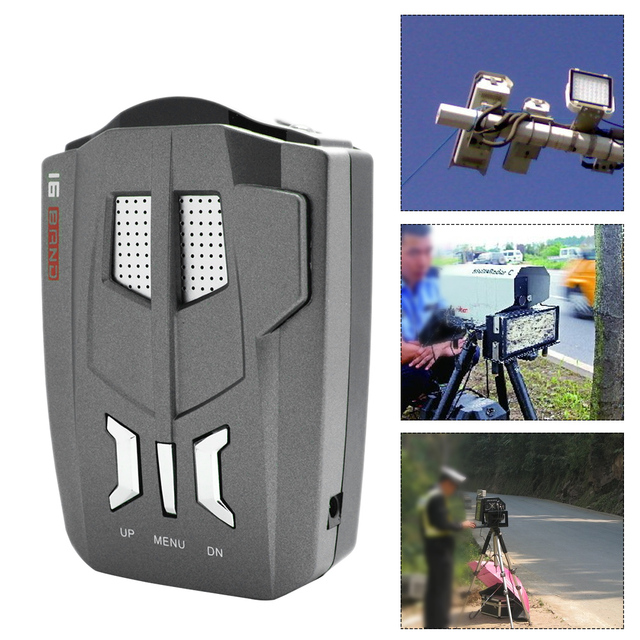Boruit Auto Della Polizia Laser 180 Gradi V9 Display A LED Anti Rivelatore Del Radar di Velocità di Voce di Allarme di Avvertimento per la Russia/Inglese
