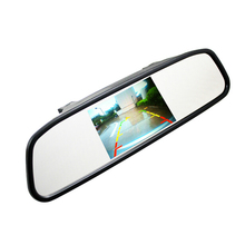 "4.3"" 4.3 inch TFT LCD Color Car rear view mirror monitor video DVD player car audio auto for Car Reverse camera(China)"
