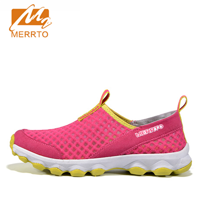 2018 Merrto Womens Walking Shoes Lightweight Outdoor Slip On Shoes Breathable Mesh Sports Shoes For Women Free Shipping MT18536 womens lightweight walking shoes casual breathable mesh fashion outdoor shoes slip on flat footwear new arrival 1yd926