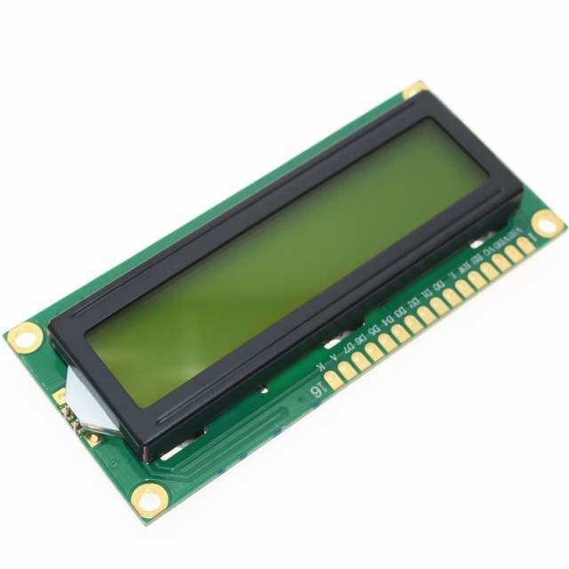 1PCS LCD1602 1602 module green screen 16x2 Character LCD Display Module.1602 5V green screen and white code for arduino 1