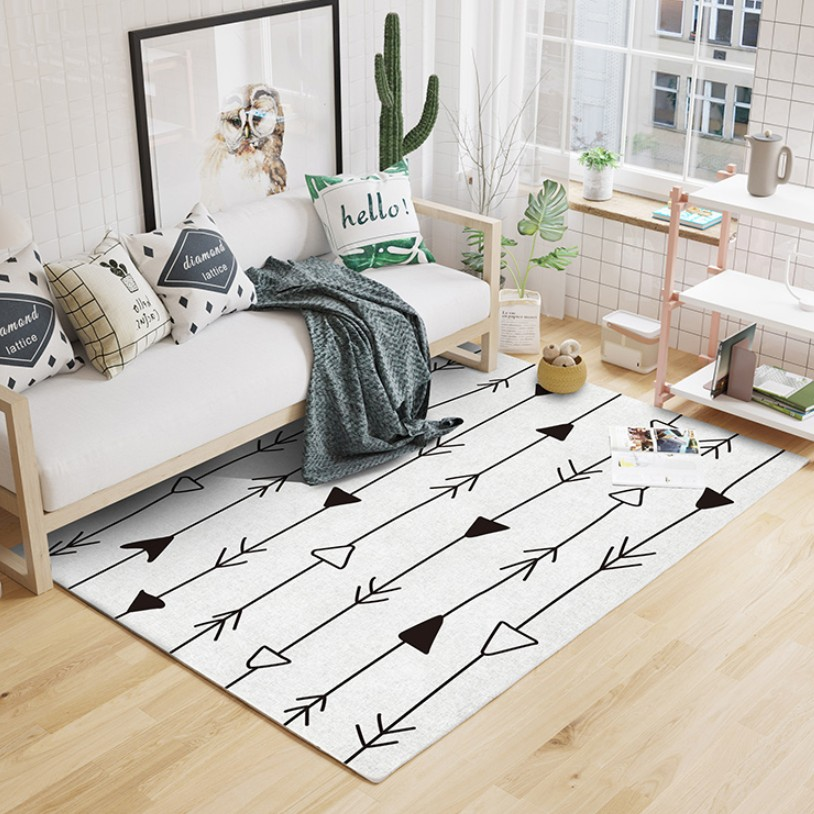 NEW INS Morocco Style Beige White Geometric Pattern Living Room Rug Pastoral home decoration Bedroom Carpet
