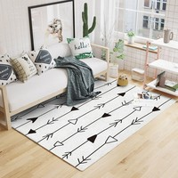 NEW INS Morocco Style Beige White Geometric Pattern Living Room Rug, Pastoral home decoration Bedroom Carpet, Nordic floor mat