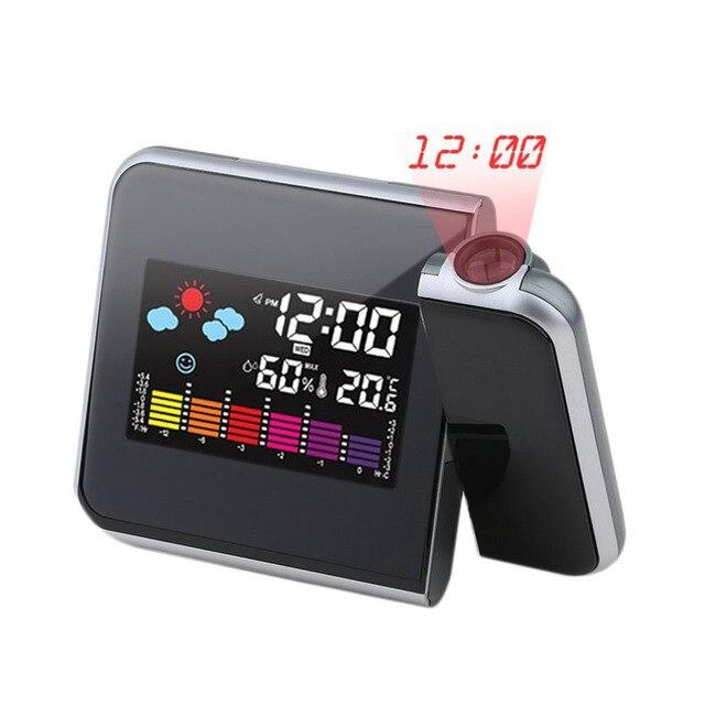 Petite projection numérique led horloge de table d\'alarme horloges ...
