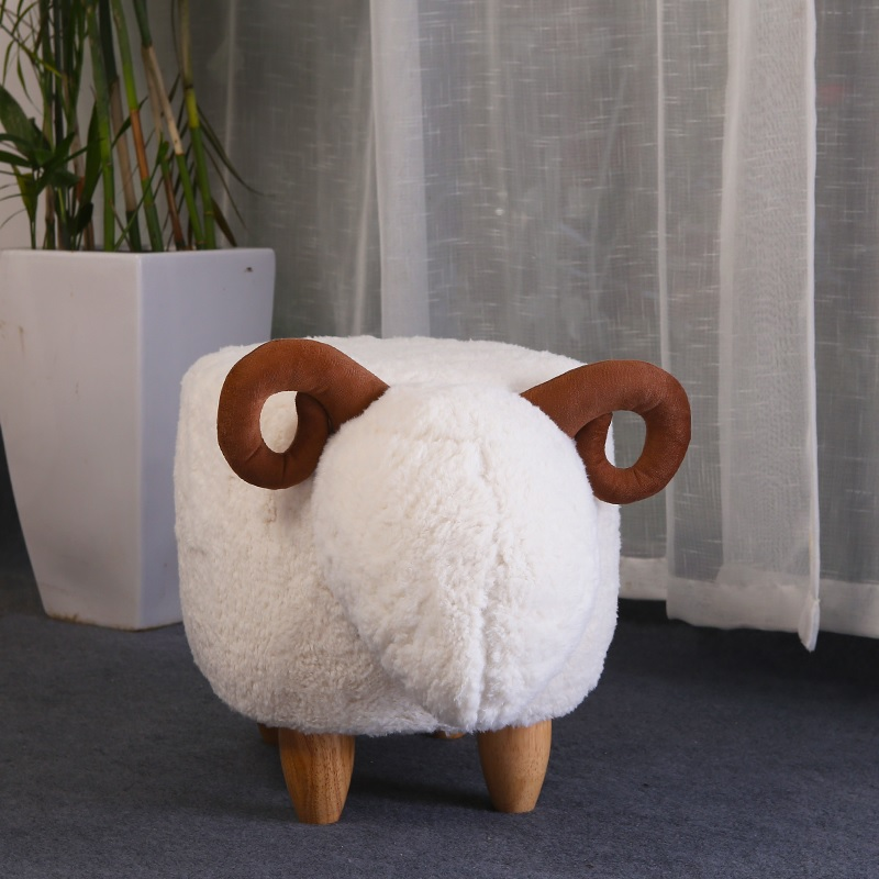 37cm(14) Height Stool of Sheep / 65cm(25) Length  /  Washable Flannelette Fabric 37cm(14) Height Stool of Sheep / 65cm(25) Length  /  Washable Flannelette Fabric