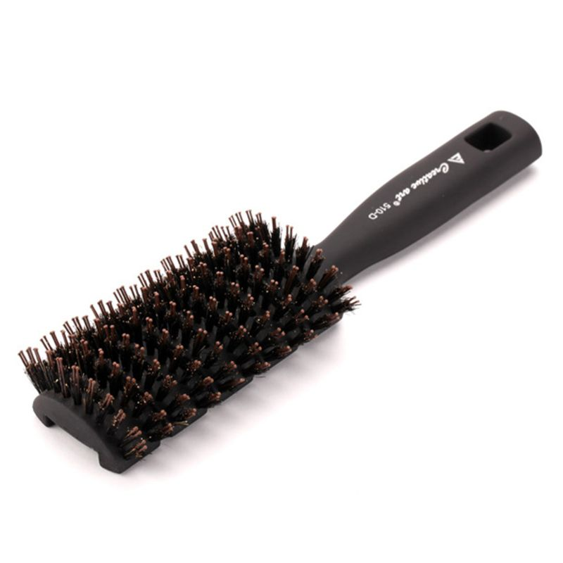 Mens Styling Ribs Comb Bristles Hair Brush Frosted Scrub Handle Anti-Static Barbershop Salon Modelling Hairdressing Beauty Tool