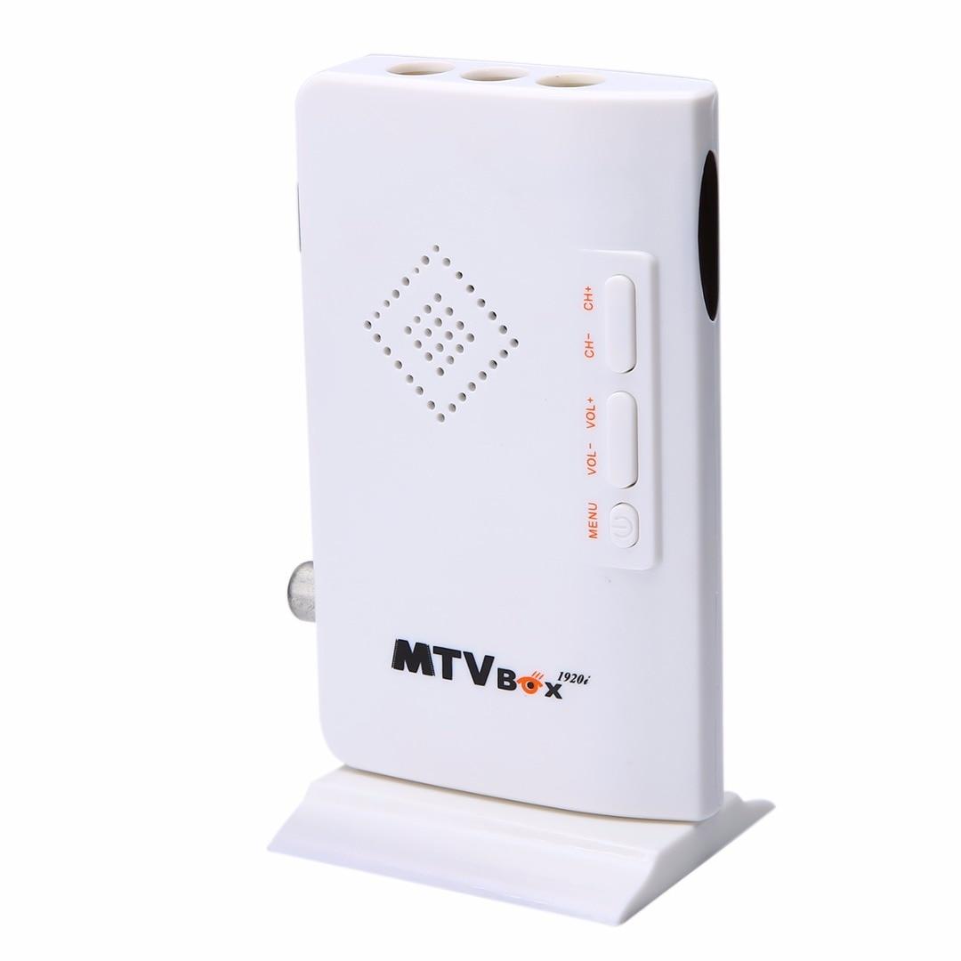 Mayitr 1 Set Portable External LCD VGA TV PC Tuner Box Digital Program Receiver HDTV HD 1080P + Remote Controller EU Plug Kits