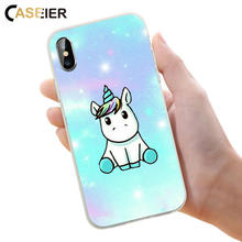 CASEIER Cute Patterned Phone Case For iPhone 6 6s Plus Soft Silicone Cover For iPhone 7 8 Plus X 5 5s SE Luxury Funda Capinha цена и фото