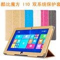 """Alta calidad del envío original de la pu case para 10.6 """" cubo i10 quad core Tablet pc, cubo i10 cubierta"""
