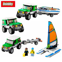 Lepin 02027 City Series Great Vehicles 4×4 with Catamaran Building Block Bricks Toys Kids Gifts 360Pcs Compatible 60149