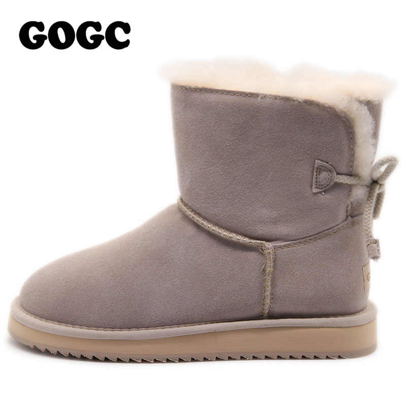 ... GOGC Genuine Leather Ankle Boots Women Winter Boots Breathable Women s  Winter Shoes Snow boots Women Shoes ... 637dd430785f