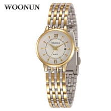 WOONUN Womens Watches Top Brand Luxury Fashion Stainless Steel Quartz Wrist Watches For Women Gold Watch Women Relogio Feminino
