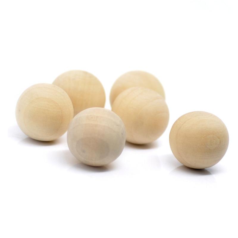 """750 قطع الجملة سحر خشبية الخشب الطبيعي الكرة المستديرة الخرز لا ثقب 20 ملليمتر (6/8 """") ضياء.-في خرز من الإكسسوارات والجواهر على  مجموعة 1"""