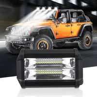 5 Inch 72W Modified Car Top LED Light Spot Combo Work Lamp with Two Rows Light Bars for Jeep Offroad SUV ATV