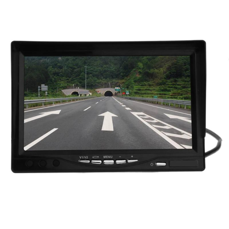 7 inch TFT LCD Monitor Display Wireless Rear View Infrared Night Vision Backup Camera Car-styling Reverse Parking Display diysecur 4pin dc12v 24v 7 inch 4 split quad lcd screen display rear view video security monitor for car truck bus cctv camera