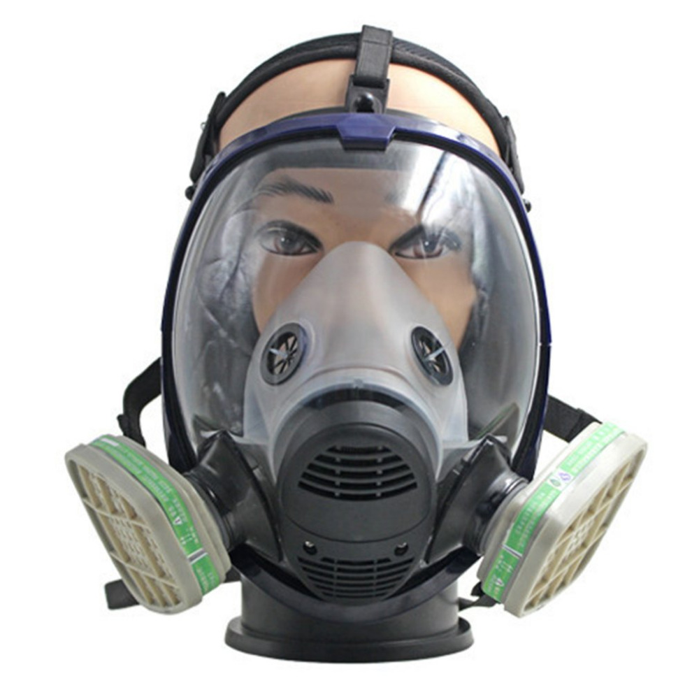 Self-Conscious Full Facepiece Respirator Gas Mask Anti-dust Anti Ammonia Gas Safety Mask With Filter For Industry Painting Spraying Crease-Resistance Back To Search Resultshome