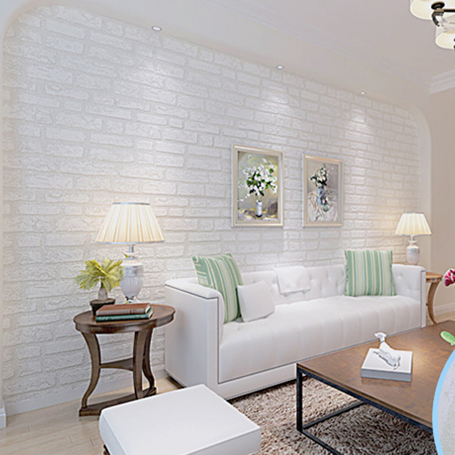 Compre impress o 3d papel de parede para for Sala de estar com papel de parede 3d