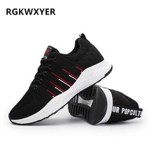 RGKWXYER New Running Shoes Breathable Wear-resistant Sport Male Sneakers Fashion Mesh Mens Casual Joker