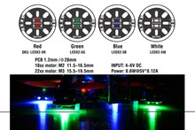 2pcs 4 colors Matek Round 1806 2204 2206 Motor Mount Led Light Board 5V for FPV QAV180 ZMR180 QAV250 ROBOCAT 270 quadcopter