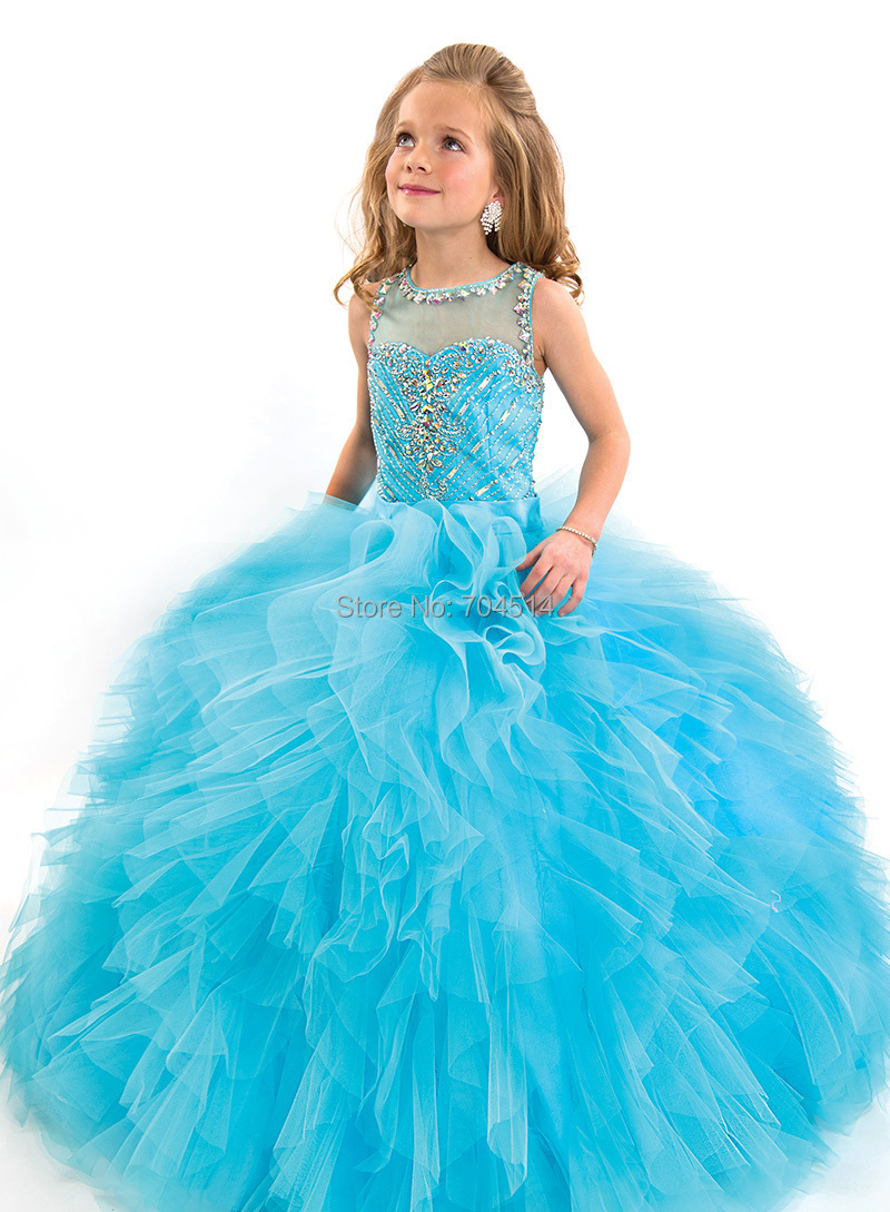 RAPD03 New High Quality Ball Gown Kid Wedding Dress Beading Puffy ...