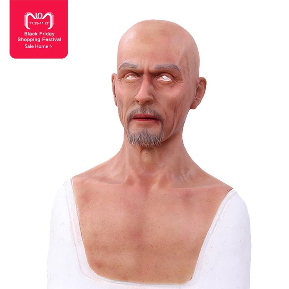 EYUNG Charles Europe homme visage Simulation masque Top réaliste silicone vieux hommes mascarade Film et télévision effets spéciaux prop