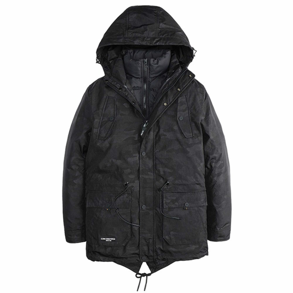 Bomber Mens Winter Parkas 2017 New Brand Clothing Thick Jacket Keep Warm Two Pieces Casual Winter Coat Men Masculine Jacket