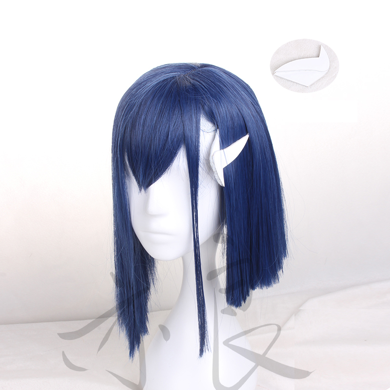 DARLING In The FRANXX Code 015 Ichigo Cosplay Wig Anime Blue Straight Synthetic Hair