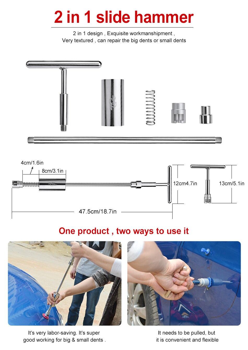 PDR įrankių komplektas be dažų dantų taisymo kabliai stūmimo - Įrankių komplektai - Nuotrauka 5