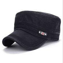 Military Cap Men Women Washed Cotton Flat Top Army Hat Adjustable Gorra Militar Visor Bone Male Vintage Fashion Classic