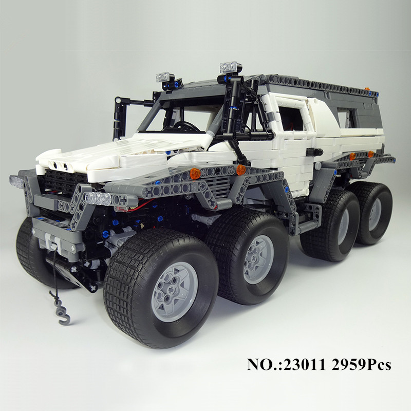 H HXY 23011 2959Pcs Technic Series Off road vehicle Model Building Kits Block Bricks Compatible Toys