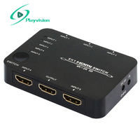 Playvision Ultra high resolution HDMI switcher 5X1 3D 4Kx2K Support DVD PS3 Settop Box and Note