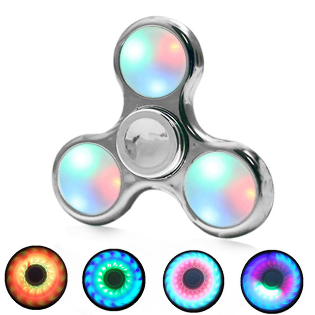 2017 Glow In The Dark Toy Fidget Spinner Long Lasting Stress Relief Toys Finger Spinner Perfect Birthday Gift Hand Spinner