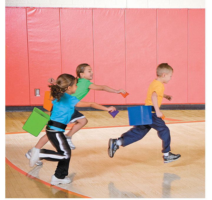6Pcs Belt Bucket Kids Team Fast Acting Games Outdoor Play Sensory Integration Toys For Children