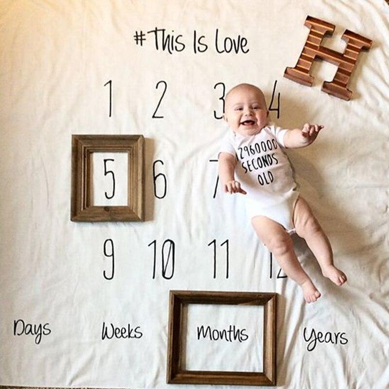 font b Baby b font Girl Boy Blankets Swaddle Wrap Creative Muslin Blankets Kids Letter