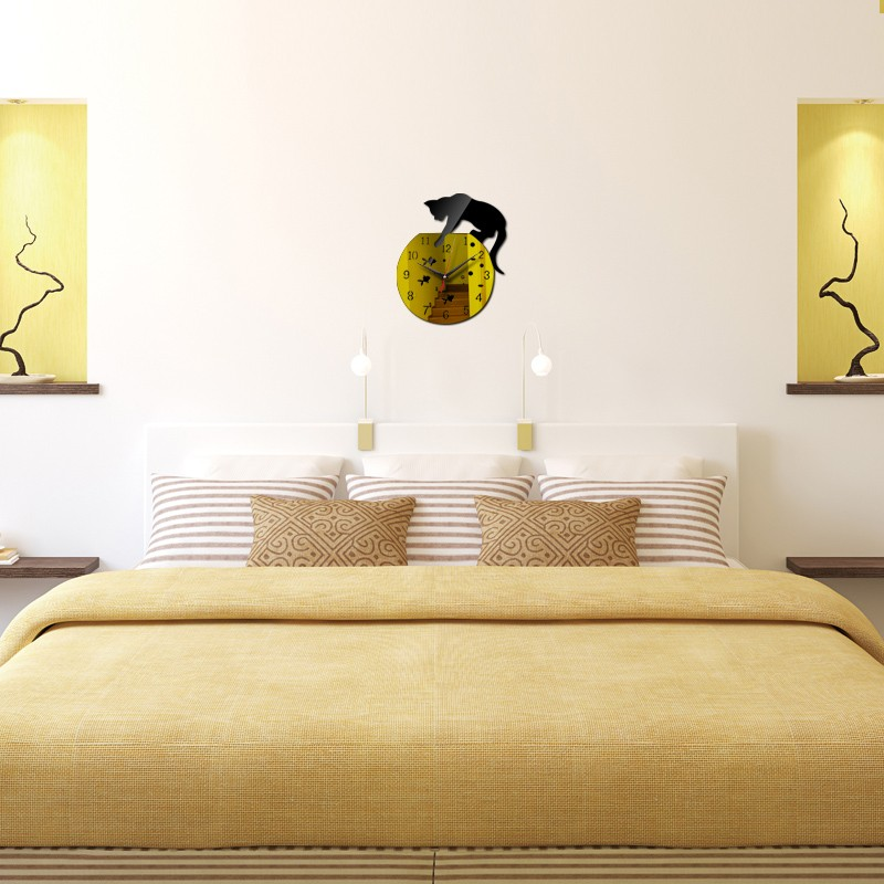 Neue wanduhr hei er verkauf echt uhren reloj de pared moderne design qua wohnzimmer nadel acryl - Designer uhren wohnzimmer ...