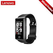 """Lenovo смарт браслет пульсометр кровяное давление спортивные часы 0,96 """"TFT сенсорный экран металлический корпус Поддержка нескольких языков"""