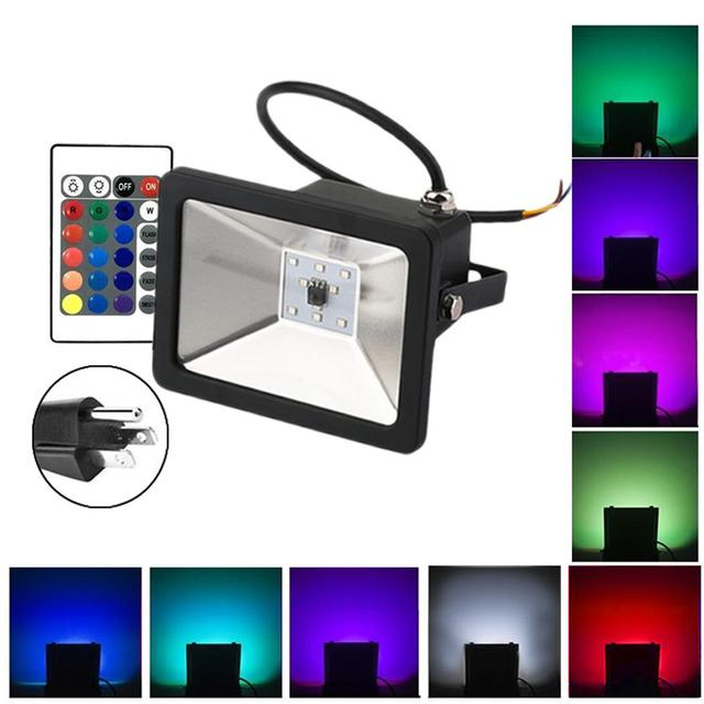 Kaigelin 10w 20w 30w Rgb Led Floodlight With Remote Control Projector Flood Light Ac85 265v Outdoor Lighting Reflector