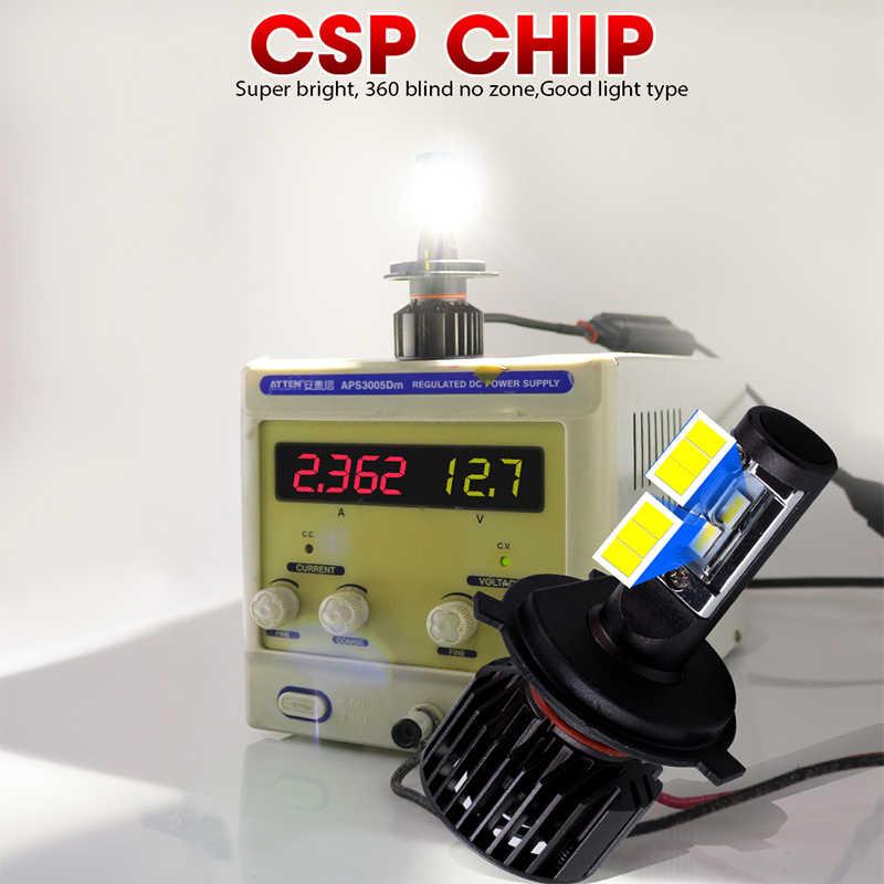 HLXG Mini h7 led 16000lm Car Headlights H1 H11 H4 LED HB3/9005 HB4/9006 Bulbs Anti-EMC Radio FM No Flicker 6500K Auto Lamp Light