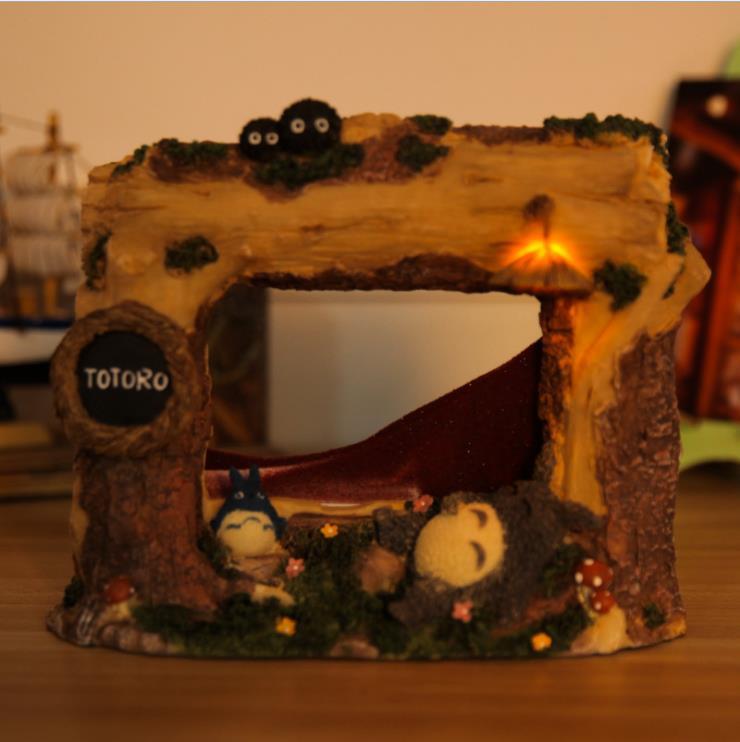 Изделия из смолы украшения Тоторо песочные часы украшения с ночной светильник украшения для дома подарок для подруги E115