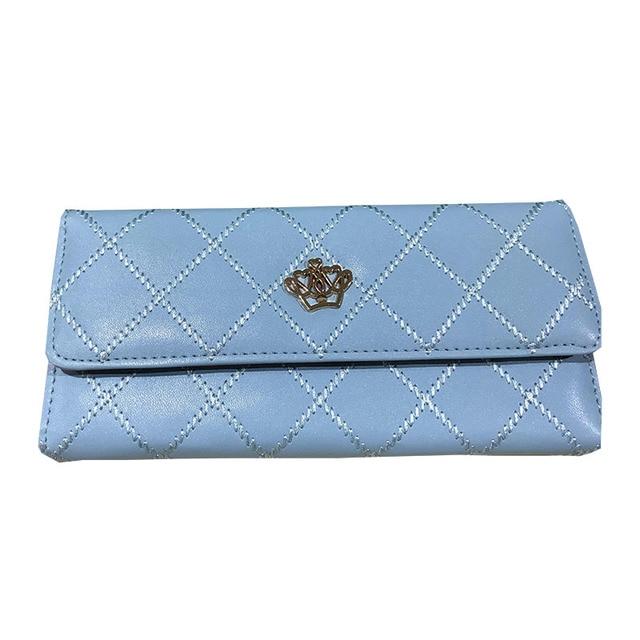 Compagnon Cuir Bleu Pour Femme