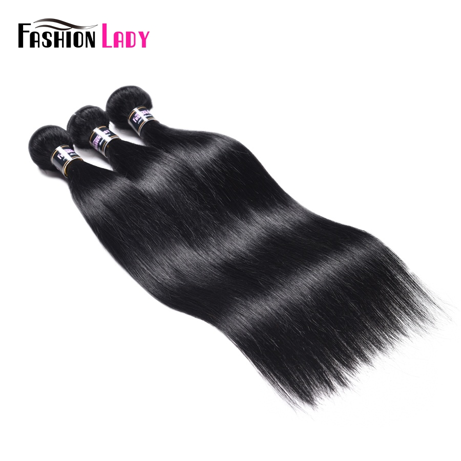 Fashion Lady Pre-colored Peruvian Human Hair Weave Bundles 1# Jet Black Straight Bundles 1/3/4 Bundle Hair Weaving Non-remy