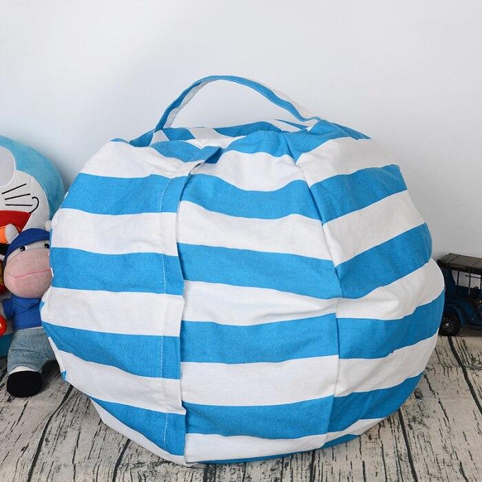 6 цветов чучело для хранения кресло для детей-Пуф Пуфик для хранения игрушек - Цвет: Lake Blue