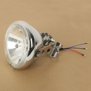 "12V 5.75"" Headlight Lamp w/ Fork Brackets For Triumph Norton BSA Ducati Harley"