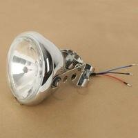 12V 5.75 Headlight Lamp w/ Fork Brackets For Triumph Norton BSA Ducati Harley