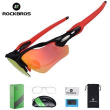 ROCKBROS 3 in 1 Polarized Bicycle Glasses UV400 Sunglasses O