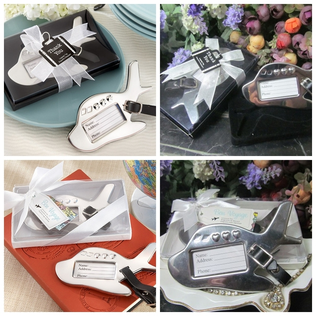 60 Pieceslot Wedding Gift For Guests Airplane Luggage Tag Wedding