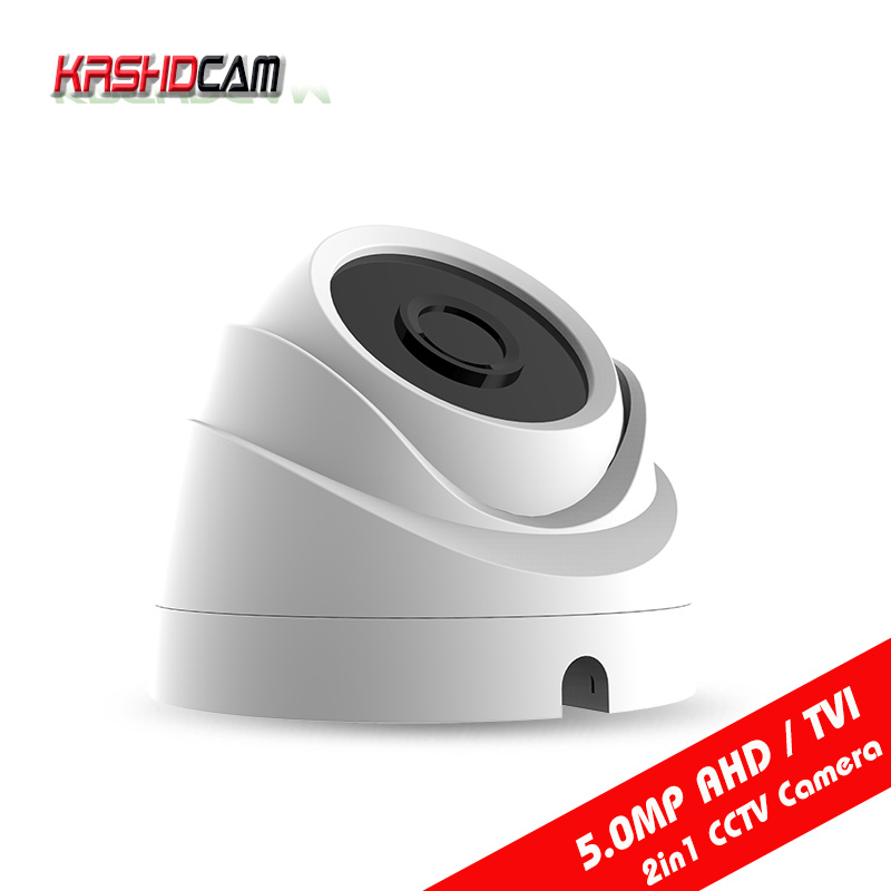 KRSHDCAM 5.0MP AHD/TVI Camera 4 in1 CCTV Security plastic IR dome indoor Video Surveillance Night Vision cameras de seguranca 4 in 1 ir high speed dome camera ahd tvi cvi cvbs 1080p output 33x ptz dome camera ir 150m day night ip66 waterproof outdoor