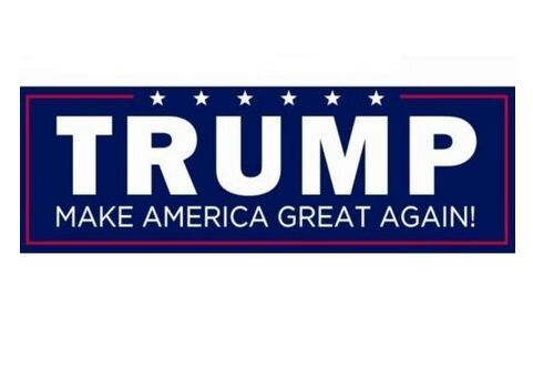 5pcs fashion donald trump for president make america great again bumper stickers 76 230mm car sticker trump flag sticker in decorative films from home